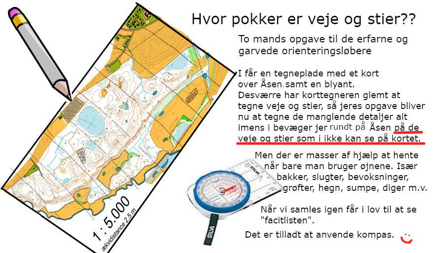 kort og kompas opgaver
