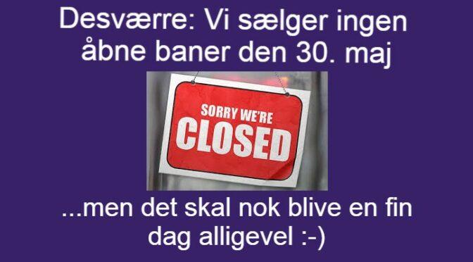 Banebutikken er lukket
